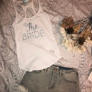 "Betsey Johnson ""The Bride"" Tank with Bow back"
